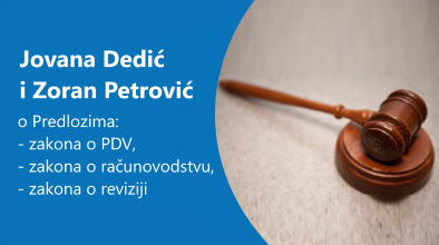 Jovana Dedić i Zoran Petrović o aktuelnim Predlozima zakona